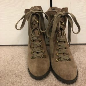 Shoes - Brand new, lace up, high heel work boots